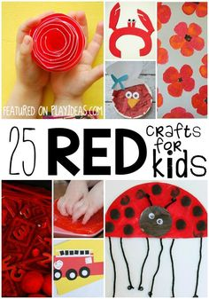 Filed - 25 Awesomely Red Crafts for Preschoolers Kindergarten Colors, Preschool Colors, Teaching Colors, Kindergarten Activities, Preschool Activities, Preschool Prep, Preschool Art Projects, Classroom Crafts, Preschool Crafts