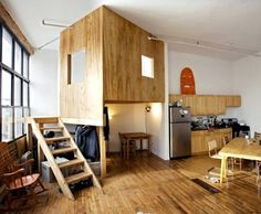 contemporary cubby for kids with space above and below