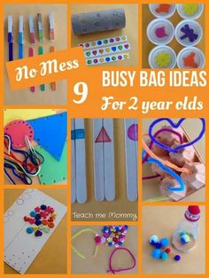 Busy bag for 2 year olds