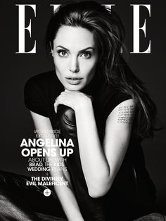 visual optimism; fashion editorials, shows, campaigns & more!: untamed heart: angelina jolie by hedi slimane for us elle june 2014