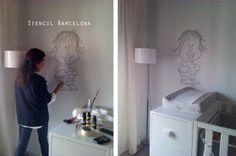 Os enseñamos la habitación de Guille, que hemos pintado esta mañana.  La casa en general respira mucho blanco, igual que la habitación, por eso no hemos querido poner mucho color, ya que simplemente es un GUIÑO.   Lo bueno si es breve 2 veces bueno!!!