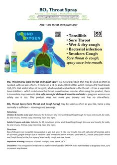 Learn how to use this mouth and Throat Spray Sore Throat And Cough, Dry Cough, Throat Spray, Bacterial Infection, Wet And Dry, Moisturizer, Things To Come, Moisturiser