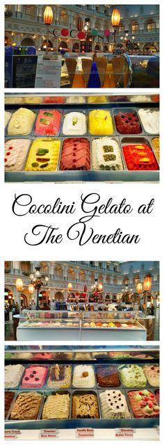 Cocolini's Gelato Bar in St Mark's Square in Grand canal Shoppes in Venetian Las Vegas