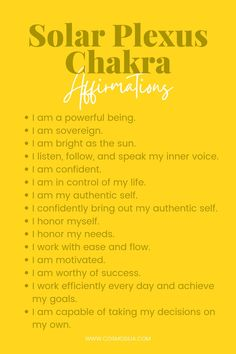 Chakra Affirmations, Chakra System, I Am Worthy, Authentic Self, Solar Plexus Chakra, Chakra Balancing, Chakra Healing, Plexus Products, Of My Life