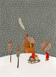 Lot de 2 illustrations Noël
