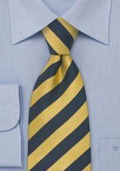 XXL-Krawatte dunkelblau gelb gestreift günstig kaufen