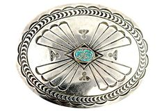 Navajo Turquoise Concho Belt Buckle – Yourgreatfinds