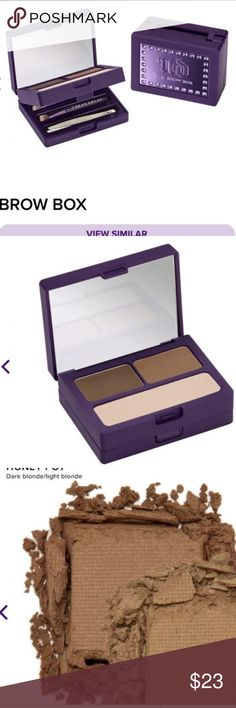 NEW URBAN decay brow kit in shade honey pot NEW Urban decay brow kit with brow powders and wax. Includes tweezers and two precise brow brushes Urban Decay Makeup Eyebrow Filler