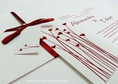 Convite casamento romântico - Galeria de Convites