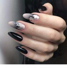 Cute Nail Art Designs Ideas For Stylish Girls # nail # nailart # nail . - Cute nail art designs ideas for stylish girls # nail # nailart # naildesigns – nail art designs & - Cute Nail Art Designs, Black Nail Designs, Black Nail Art, Black Nails, Cute Nails, Pretty Nails, Gel Nagel Design, Almond Shape Nails, Long Almond Nails
