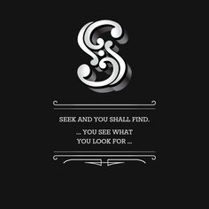 Note with content: Seek and you shall find.
