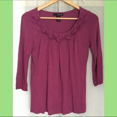 Pink rose blouse - willi smith Gently used, comfy material, simple and good quality :) Willi Smith Tops Blouses