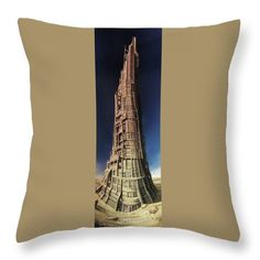 "Tower Of Babel  Throw Pillow by Tobias De Haan.  Our throw pillows are made from 100% spun polyester poplin fabric and add a stylish statement to any room.  Pillows are available in sizes from 14"" x 14"" up to 26"" x 26"".  Each pillow is printed on both sides (same image) and includes a concealed zipper and removable insert (if selected) for easy cleaning."
