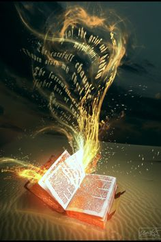 Imagine this as a tattoo with the book fire traveling up the calf Prophetic Art, World Of Books, Lectures, Writing Inspiration, Love Book, Magick, Wiccan, Witchcraft, Book Worms