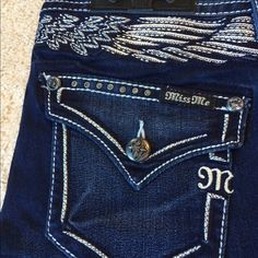NWT Miss Me jeans! NWT Miss Me jeans! Mid-rise boot - 34 inch inseam. Next day shipping. Smoke free home. No trades or holds. Price is firm. Miss Me Jeans Boot Cut