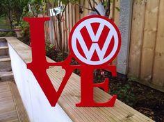 OK how cute is this?  Shabby Chic Love VW Volkswagen Sign Wedding Gift Birthday Present Anniversary | eBay