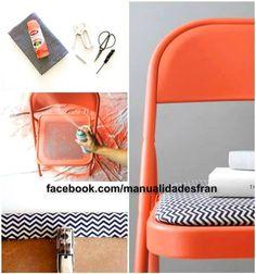 si te cansas de una simple silla gris animate y empieza a hacer esto me parecio exelente son cosas que tenemos en nuestra casa !