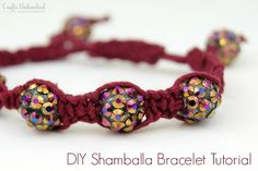 excellent tutorial for #shamballa bracelet, giving good measurements and tips, and breaking down all the steps.