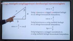 A trigonometriai számítások háromszögekben - Szinusz és a koszinusz tétel - Matek 11. osztály VIDEÓ - Kalauzoló - Online tanulás Boarding Pass, Travel, Viajes, Destinations, Traveling, Trips