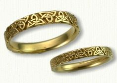Celtic Triangle Knot Wedding Rings by deSignet-- this one.