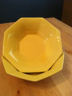 Ironstone Yellow Bowl Independence Japan by VintagebyJen on Etsy, $12.00