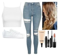 """Untitled #6235"" by kimboloveniallhoran ❤ liked on Polyvore featuring Topshop, adidas and MAC Cosmetics"