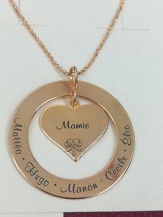 Pour mon fils Fille Pendentifs Love Papa maman Tag Colliers Bijoux kids toys gift