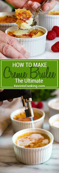 Creme Brulee is a classic French dessert with a rich custard topped with a hard layer of caramel. I'll show you how to make Creme Brulee with 4 ingredients. This is amazing and everyone always asks for the recipe! via @keviniscooking