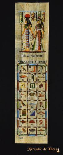 Marcador De Livro – Bookmark Papiro Egípcio Hieróglifos Isis Frete Grátis - Carta Registrada