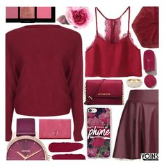 """""""Yoins"""" by pastelneon ❤ liked on Polyvore featuring Michael Kors, Nixon, Casetify, Rossetto, Gucci and Bobbi Brown Cosmetics"""
