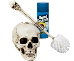 Even dead pirates need to keep their toilet clean. They do that with this skull toilet brush.If you like skulls this will be a great decorative piece for your bathroom.