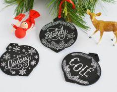 Custom Christmas Ornament - Personalized Ornament - Hand Pained Ornament - Christmas Ornament - Wooden Gift Tags- Christmas Decor