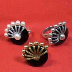 Bead Edge Rings - $49.; just some ideas for donut beads.