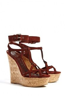 Stour Suede Wedge Sandal by Burberry Shoes