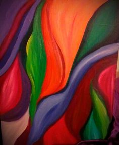 """Abstract oil painting by Deidre Goddard titled """"Vivid Entanglement"""" #abstract #art #oil #paintings"""