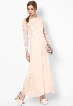 c45ff4de43 Buy Miss Selfridge Beige Colored Embroidered Maxi Dress Online - 3152859 -  Jabong