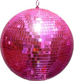 Pink disco ball would be perfect in a little girl's room - or even a big girl's room!