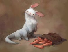 ArtStation - Bazil the carrot eater, Magda Proski