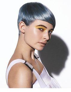 Saco Hair - Silver/blue