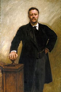 Portrait of Theodore Roosevelt: Artist: John Singer Sargent Completion Date: I have a great Respect for both T.R and John Singer Sargent! John Singer Sargent, Sargent Art, Theodore Roosevelt, President Roosevelt, Roosevelt Family, Roosevelt Quotes, Vice President, Edith Roosevelt, Lineup