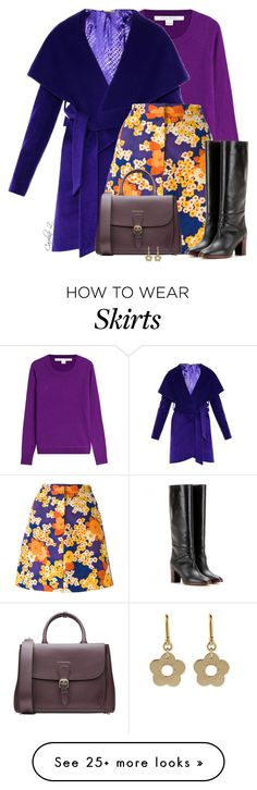 """""""Colorful Skirt"""" by carolinez1 on Polyvore featuring Diane Von Furstenberg, Carven, Burberry and Marc by Marc Jacobs"""