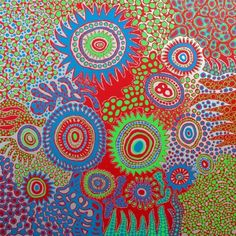 Yayoi Kusama HEART OF FLOWER 2012 acrylic on canvas 162x162cm Ota Fine Arts New Singapore gallery space Opens | ArtAsia