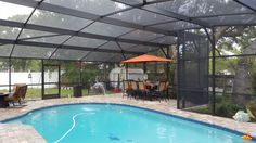Classic Dome Style Pool Screen Enclosure by Design Pro Screens, Inc. http://www.designproscreensinc.com