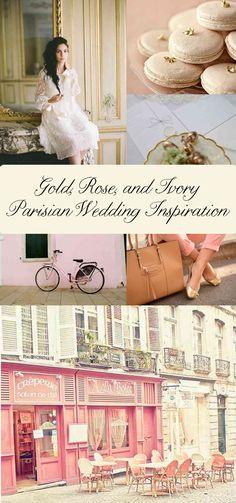 Gold, Rose, & Ivory {Paris Wedding Inspiration} - Storkie Blog