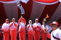 Menteri Koordinator Pembangunan Manusia dan Kebudayaan, Puan Maharani dijadwalkan membuka #Peparnas2016 di Stadion Siliwangi Kota Bandung, 15 Oktober 2016.