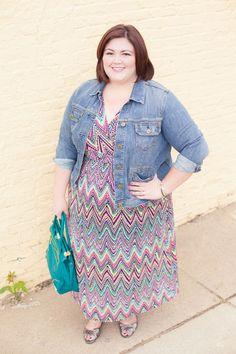 Dress: NY Collection Striped Maxi