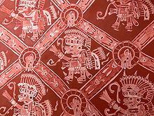 Pintura mural de Teotihuacan.