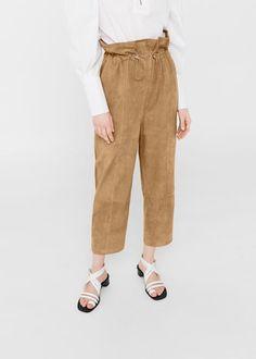 Pantaloni camoscio
