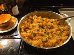 Saffron Risotto with butternut squash