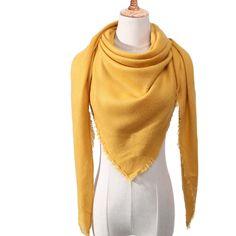 2019 cashmere scarf for women autumn winter shawls wraps neck warm headscarf blanket triangel pashmina bandana foulard femee Accessorize Scarves, Tartan, Hijab Style, Plaid Fashion, Fashion Scarves, Style Fashion, Silk Shawl, Wrap Sweater, Pullover